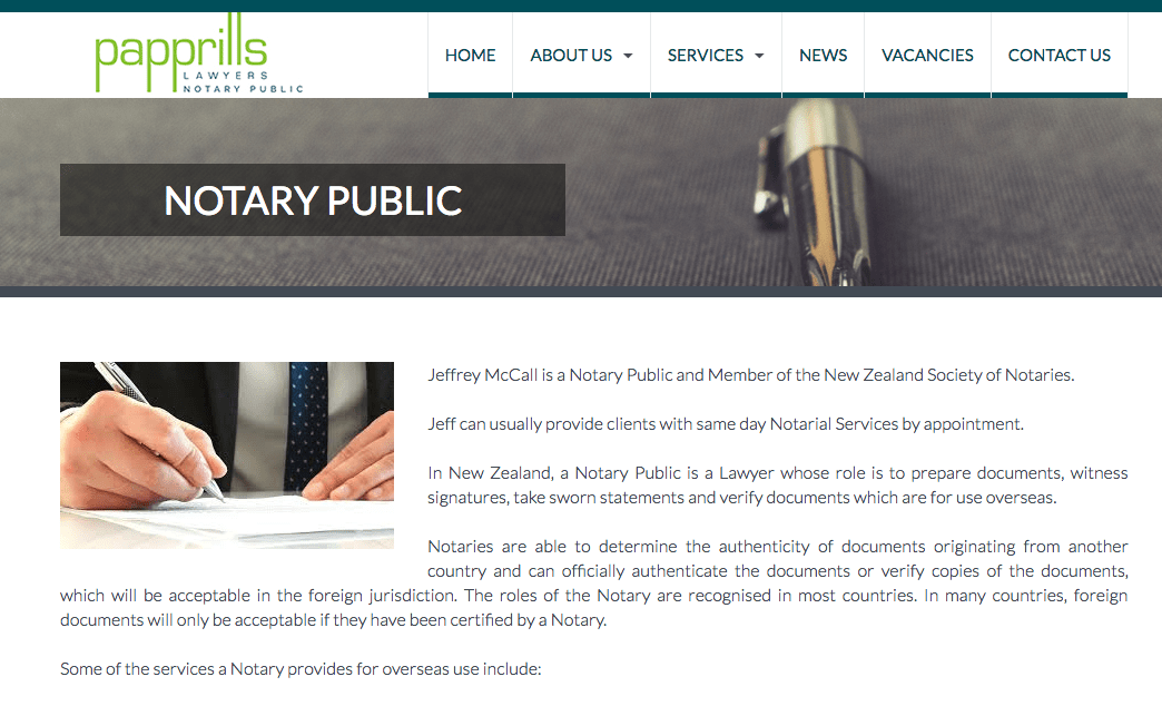 Papprills Lawyers & Notary Public's Homepage
