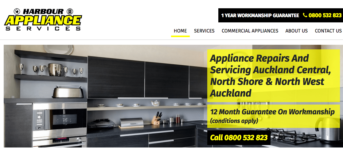 Harbour Appliance Services' Homepage