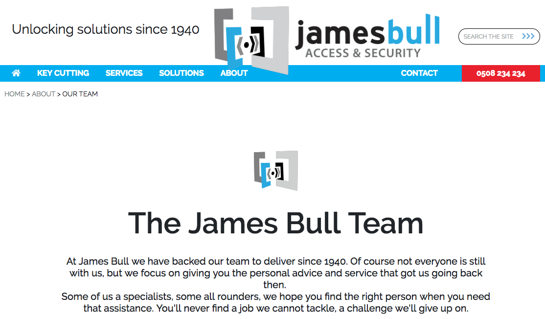 James Bull Access and Security's Homepage