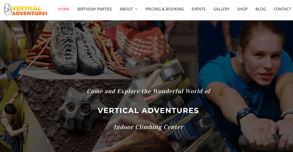 Vertical Adventures' Homepage