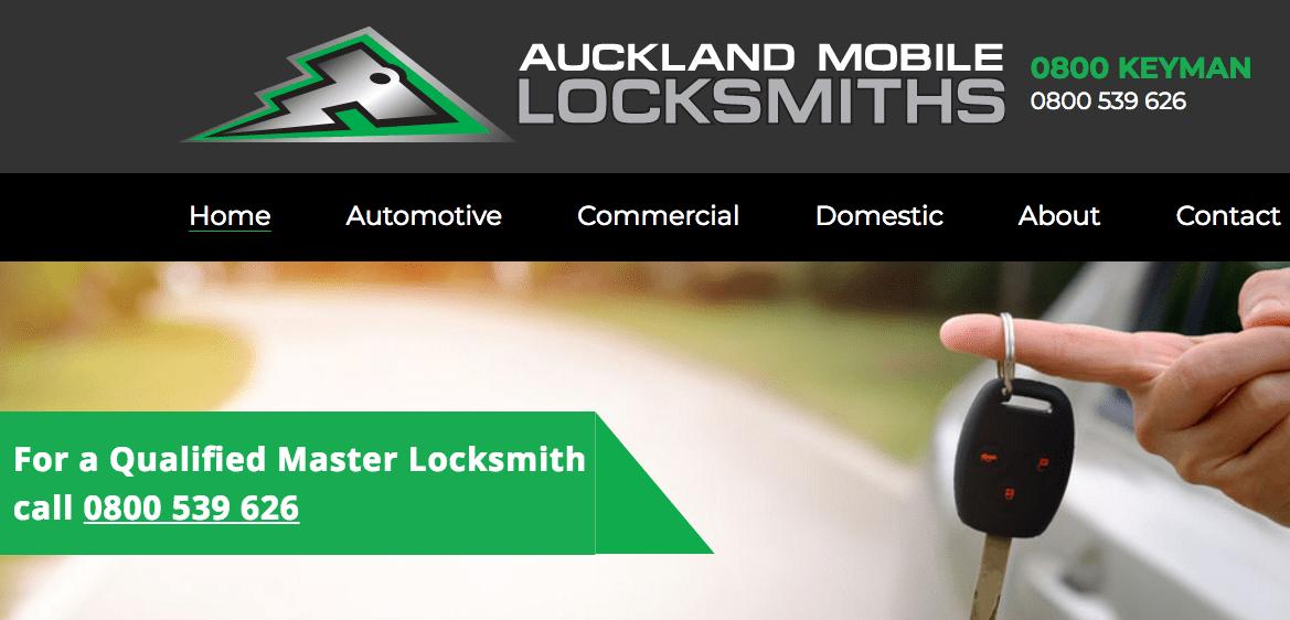 Auckland Mobile Locksmiths' Homepage