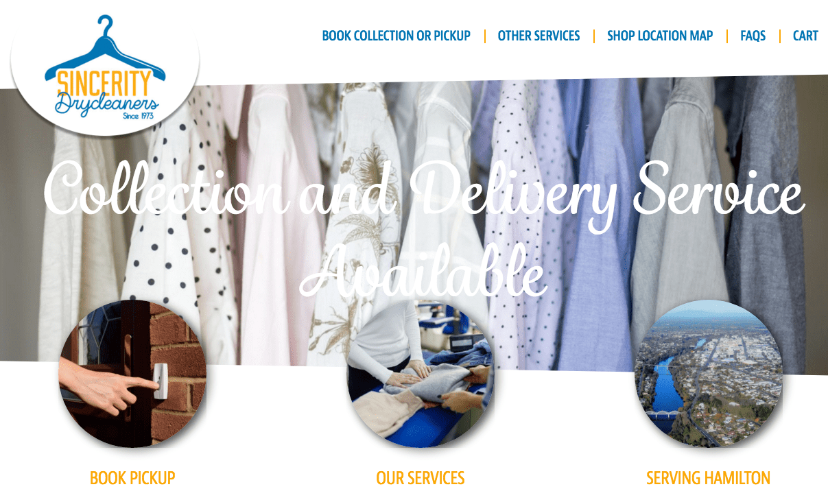 Sincerity Drycleaners' Homepage