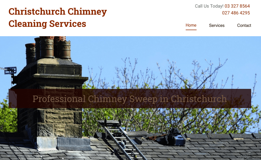 Christchurch Chimney Cleaning Services' Homepage
