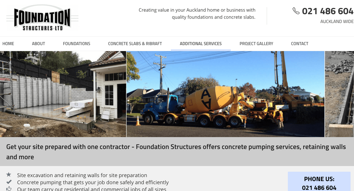 Foundation Structures Ltd.'s Homepage