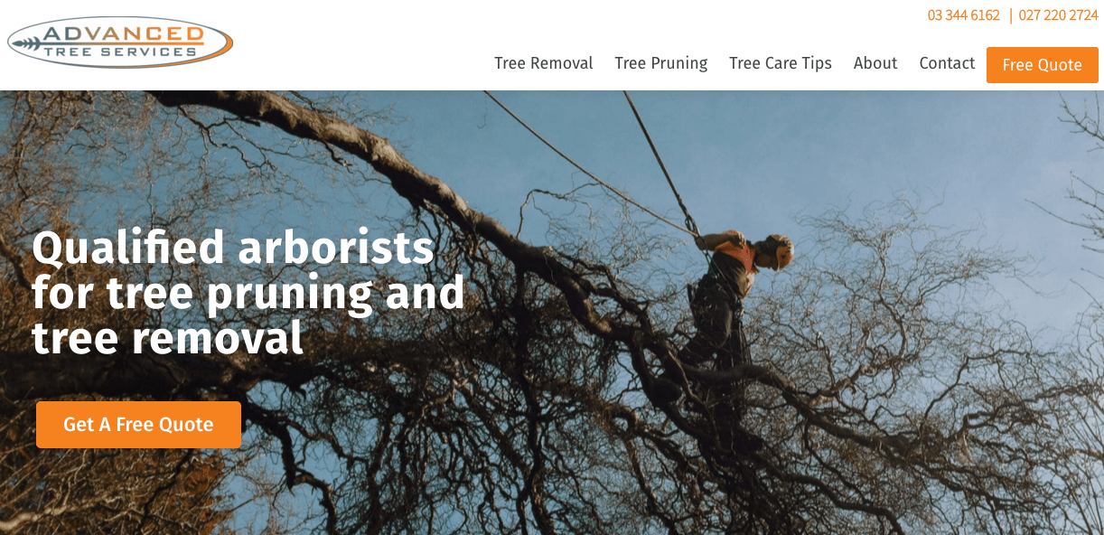 Advanced Tree Services' Homepage