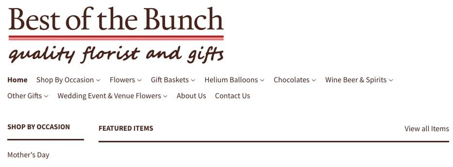 Best of the Bunch Florist's Homepage