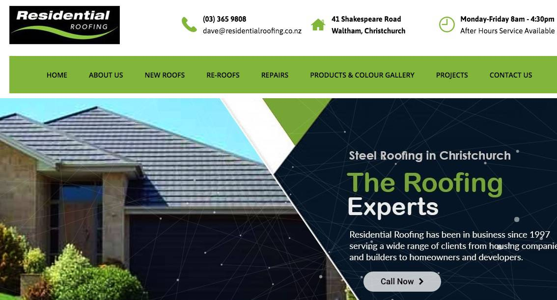Residential Roofing's Homepage