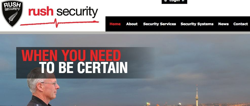 Rush Security Ltd's Homepage